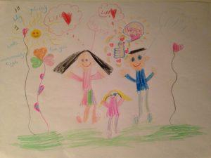 Tekening van een kindje, voor andere kindjes-3