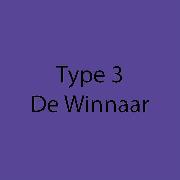 Type 3 - De Winnaar - Donker Violet