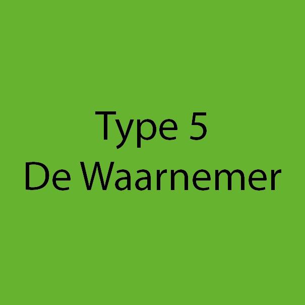 Type 5 - De Waarnemer - Groen
