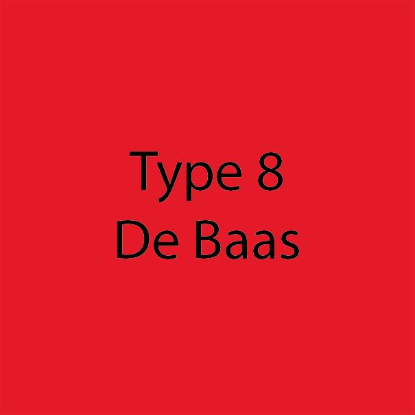 Type 8 - De Baas - Rood