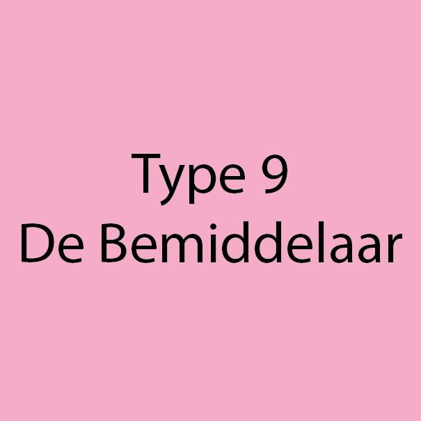 Type 9 - De Bemiddelaar - Roze